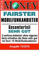 "congstar zum fünften Mal in Folge ""Fairster Mobilfunkanbieter"""