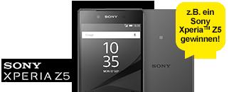 z.B. ein Sony Xperia™ Z5 gewinnen